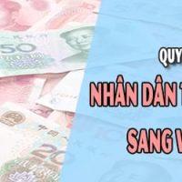 Chuyển đổi Nhân dân tệ (CNY) Đồng Việt Nam (VND)