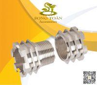 Khớp nối ren bằng đồng (mạ xi) cho ống PVC & PPR