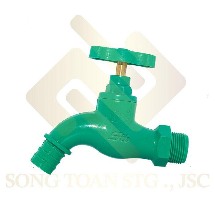 Vòi nước, Vòi nhựa PPR, Vòi xả nước làm bằng chất liệu nhựa PPR, Vòi tay gạt