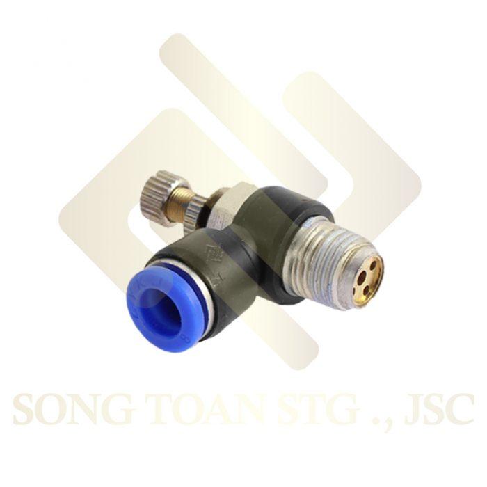 ESL - Van 1 đầu nối ren ngoài, 2 đầu nối ống hơi - khí nén - tiết lưu