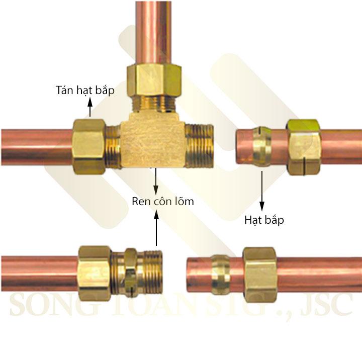 Khớp nối ống bằng hạt bắp (nhẫn) ren NPT côn lõm