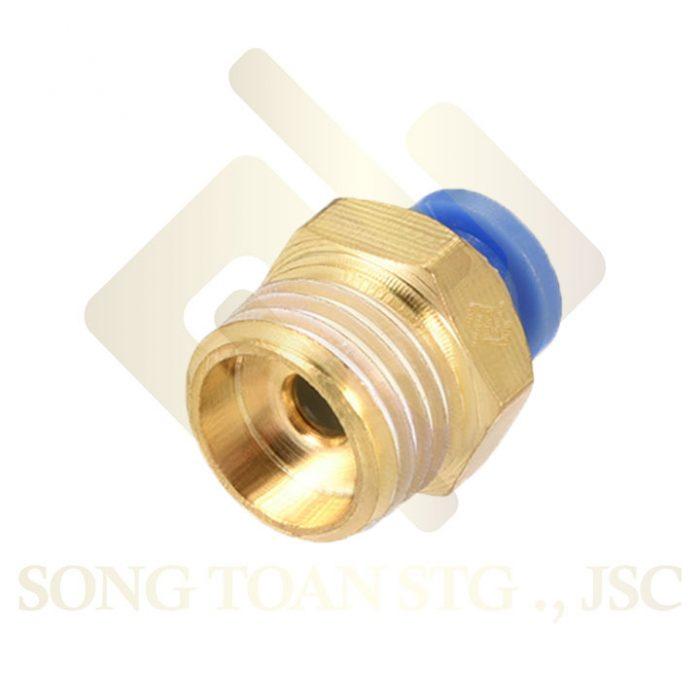 PC - 1 đầu nối ren ngoài, 1 đầu nối ống hơi - khí nén - tiết lưu
