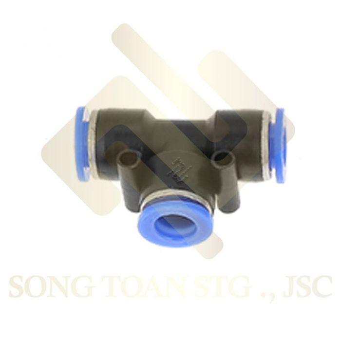 PE - T (tee) 3 đầu nối ống hơi - tê khí nén - phun sương