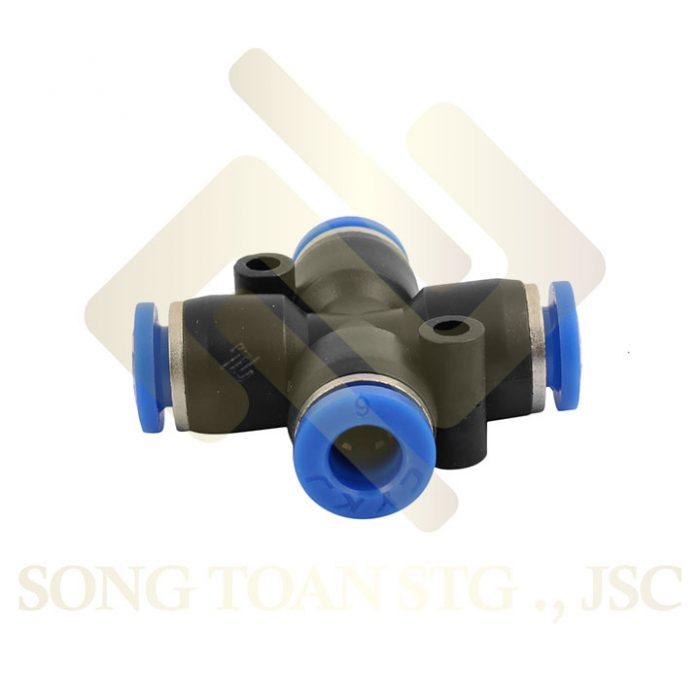PZA - Nối thập 4 hướng nối ống hơi - khí nén - phun sương