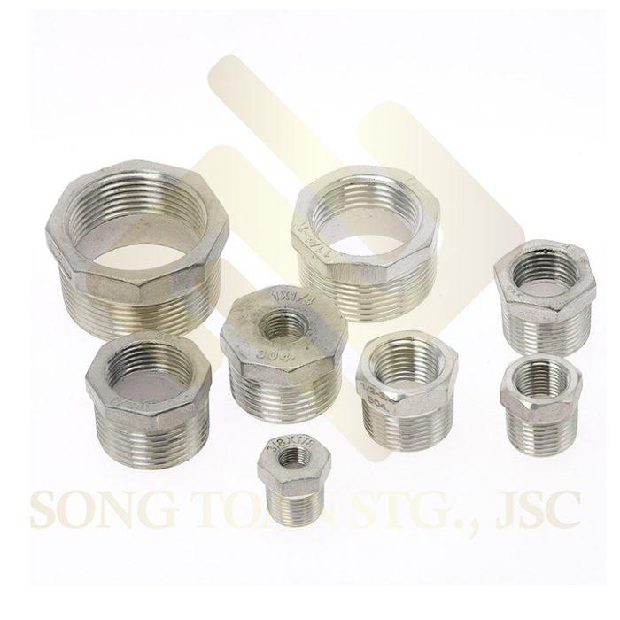 ca ra ren trong ren ngoai inox 304 inox reducing pipe fitting