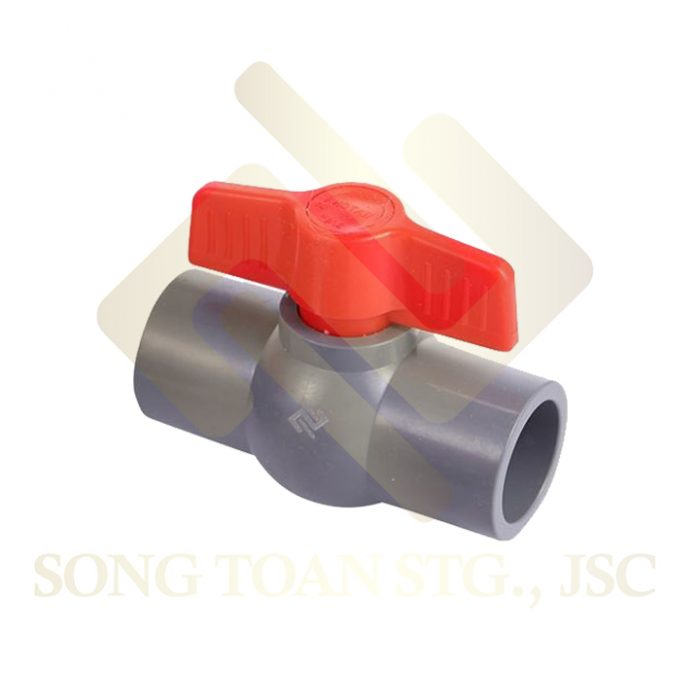 van khoa nhua canh buom van tay van plastic shut off ball valve with butterfly handle
